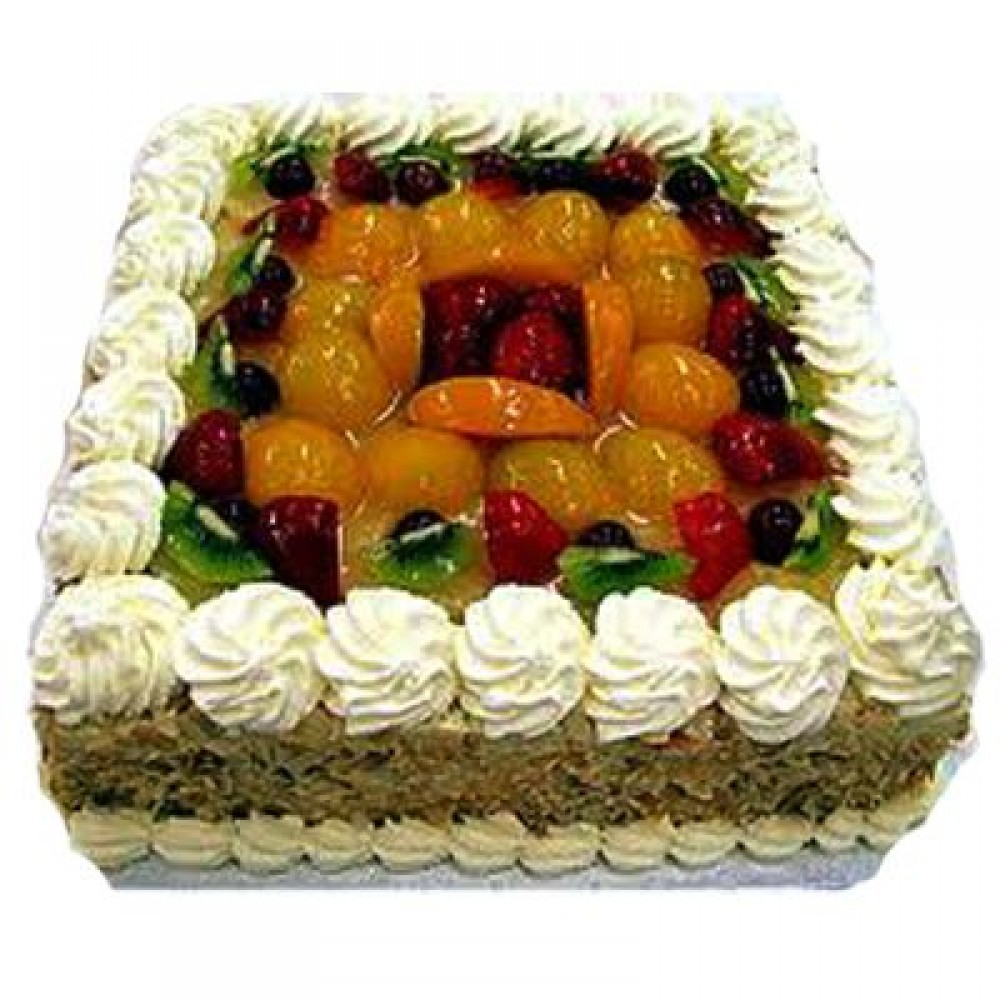 2kg Fresh Fruit Egg Less Cake Yoflorist
