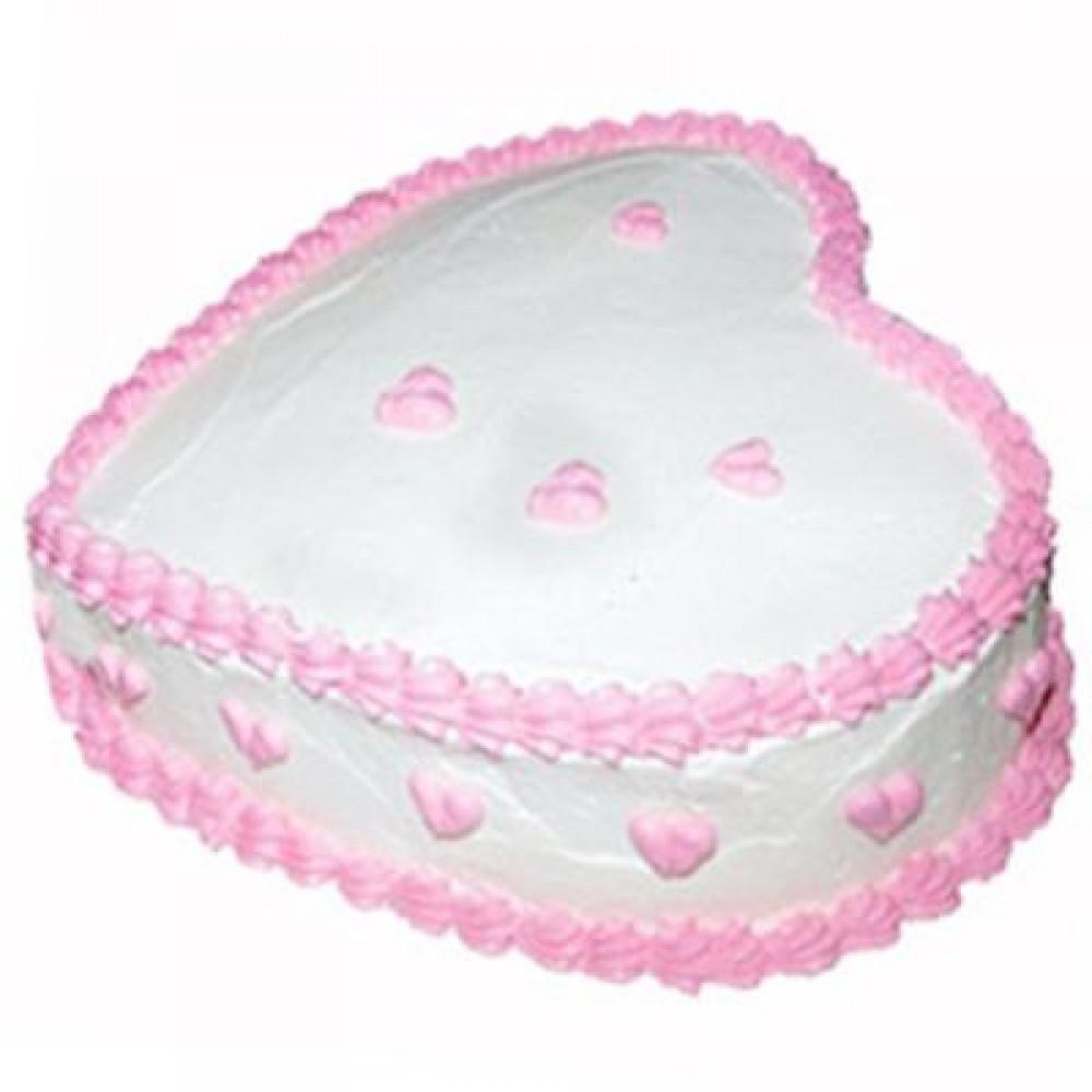 2Kg Pineapple Heart Shape Cake