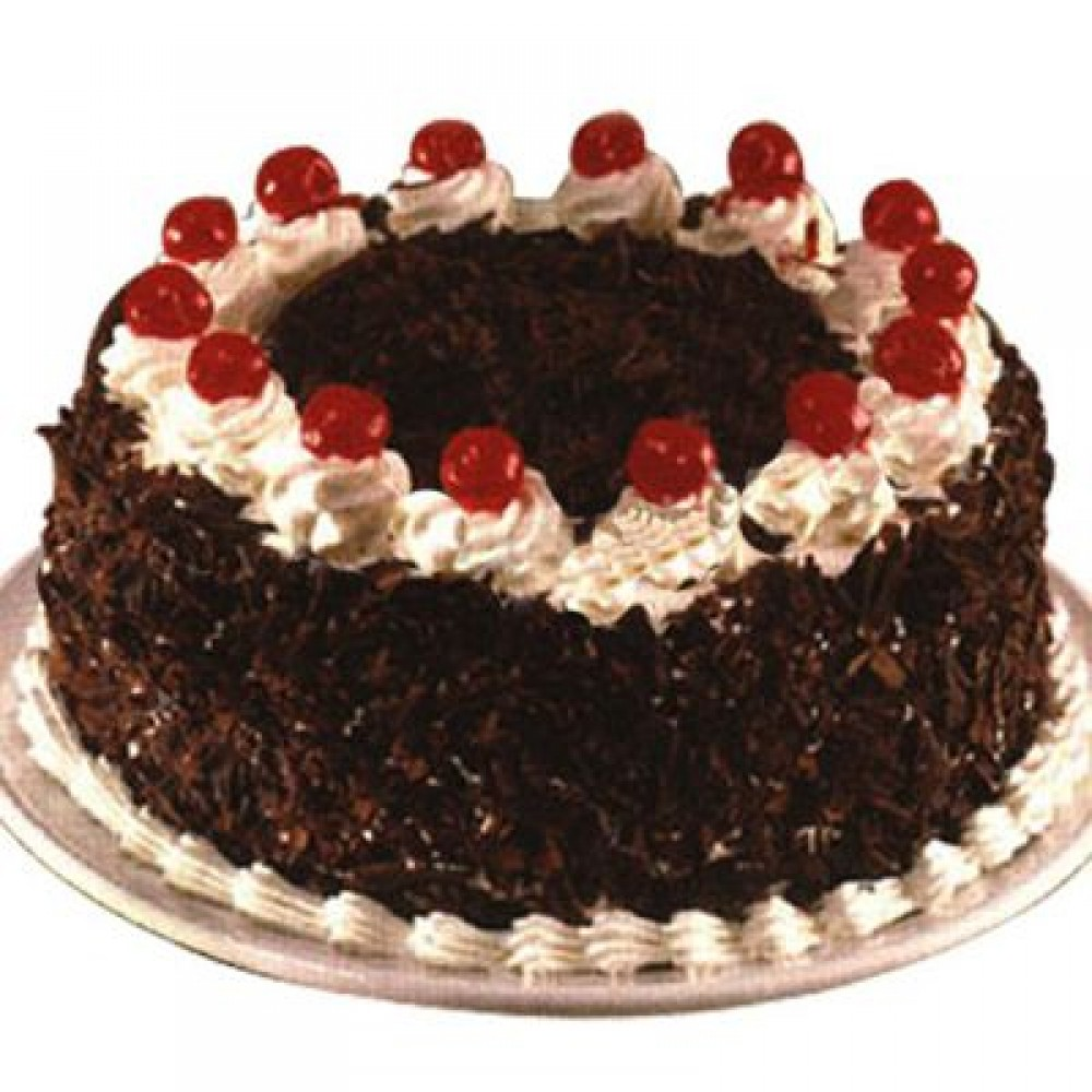 Egg less Blackforest cake