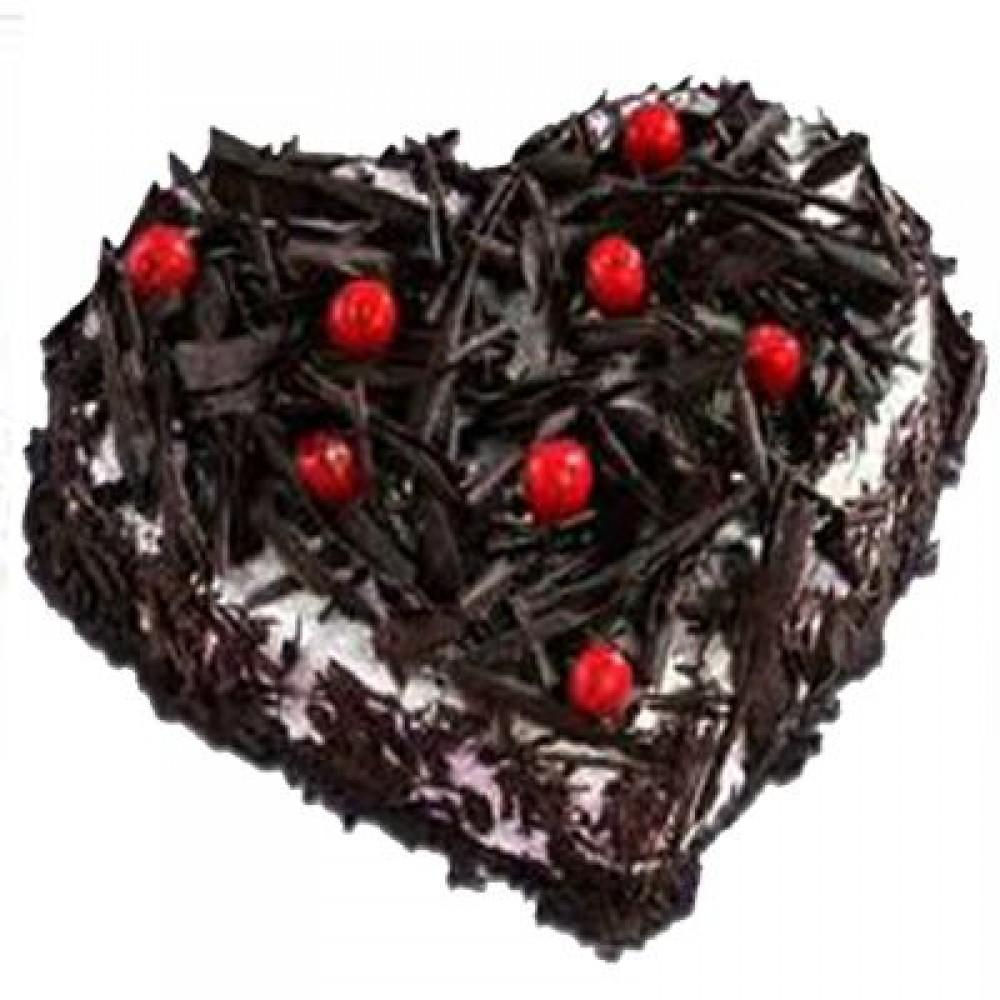 Heart Shape Blackforest Cake 1Kg