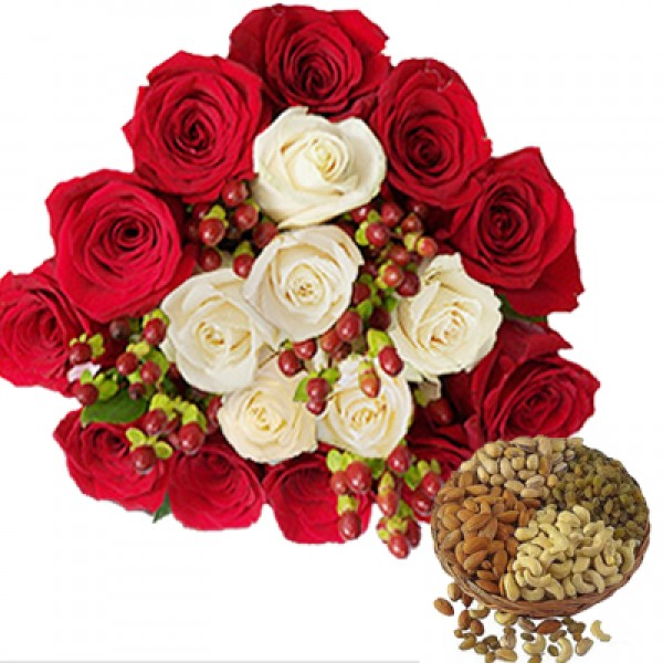 Roses n Dryfruits Treat