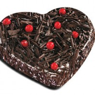 Heart Shape Eggless Black forest Cake 1Kg