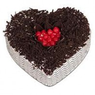 Heart Shape Eggless Chocolate Cake 1Kg