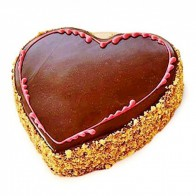 Heart Shaped Chocolate Cake With Egg