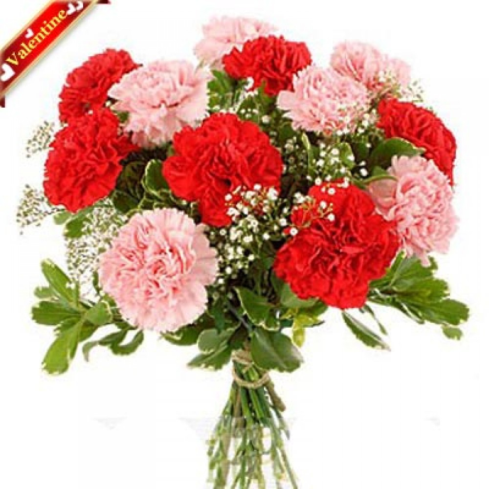 Valentine Carnations Bouquet