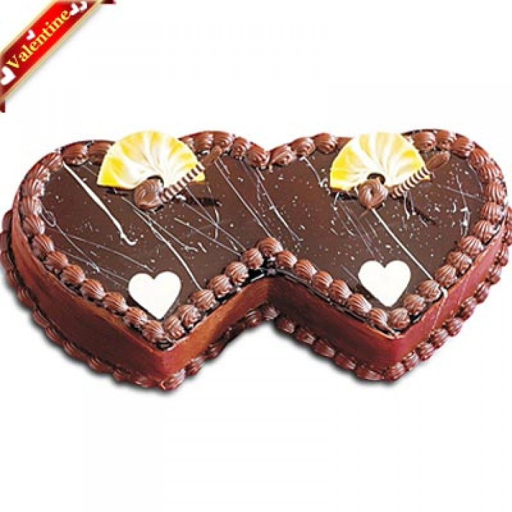 Valentine Double Heart Cake
