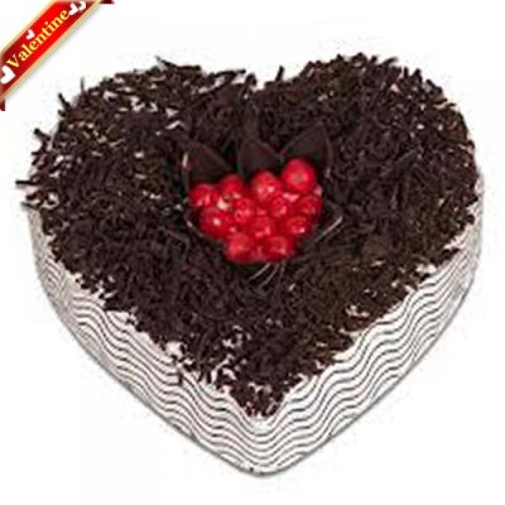 Valentine Eggless Heart Shaped Chocolate Cake