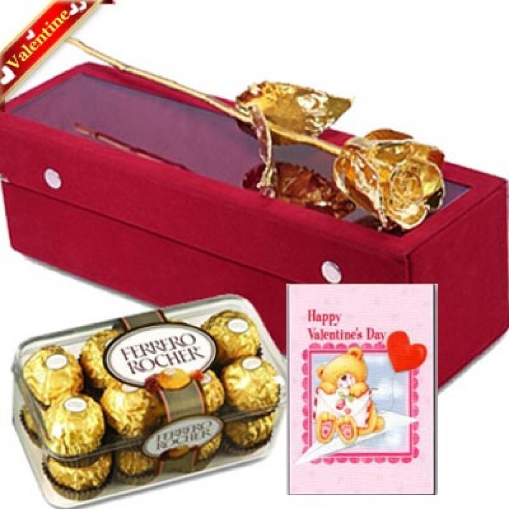 Valentine Golden Gift Wrap