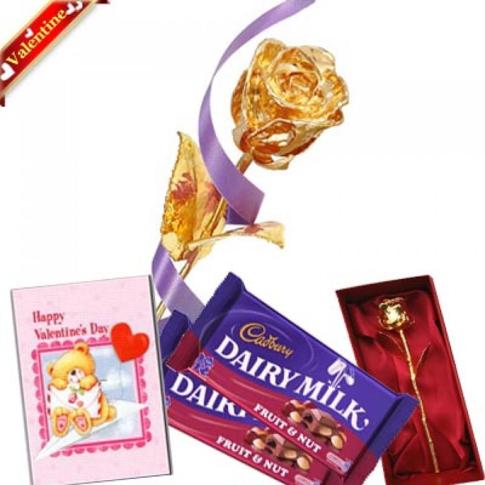 Valentine Golden Rose Choco Treat