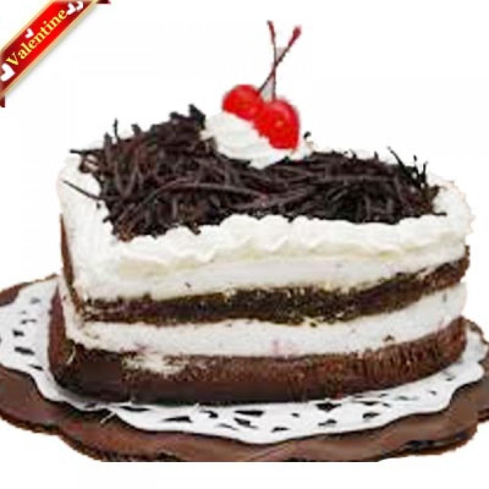 Valentine Heart Shape Blackforest Cake 2Kg