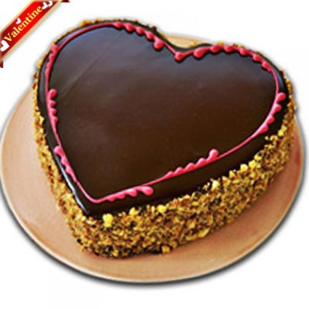 Valentine Heart Shape Chocolate Cake 1Kg.