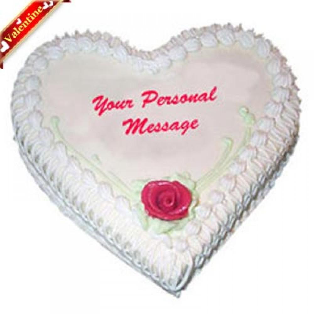 Valentine Heart Shape Pineapple Cake